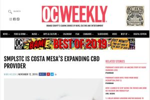 SMPLSTC cbd in oc weekly